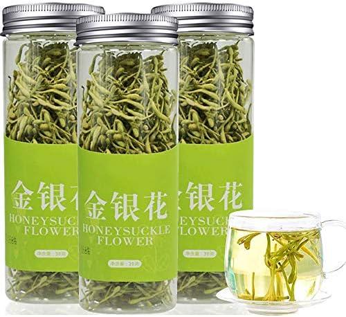 【時効保証 7日間で届けます】金銀花茶90g(30g*3) スイカズラ茶 特級忍冬花 金银花 茶葉 花茶 中国茶 自然栽培 ノンカフェイン 健康茶100%