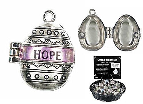 Little Blessings Hope Prayer Box Charm - By Ganz Antiqued Prayer Box Charm