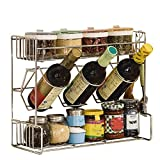 3 tier towel wine rack - ZZHF yushizhiwujia Kitchen Shelves/Three-Tier Seasoning Rack/Multi-Function Kitchen Storage Rack / 3 Layer Spice Rack/Stainless Steel Rack