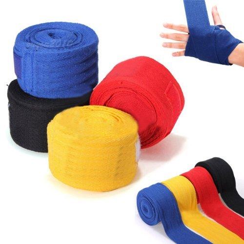 TOOGOO R Bandas de vendaje para MMA boxeo guante de boxeo boxeador sacos de perforacion de 2.5M rojo