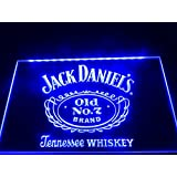 Blue Neon LED sign - Jack Daniels - collectible - mancave bar poolroom