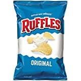Ruffles Ridged Potato Chips, Regular, 1.5-Ounce Large Single Serve Bags (Pack of 64)