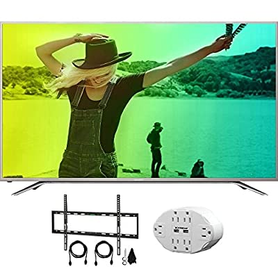 "Sharp Aquos N7000 65"" Class 4K Ultra WiFi Smart LED HDTV with Bundle Includes, 6 Outlet Wall Tap w/ 2 USB Ports + Deco Mount Flat Wall Mount Kit Ultimate Bundle for 45-90 inch TVs"
