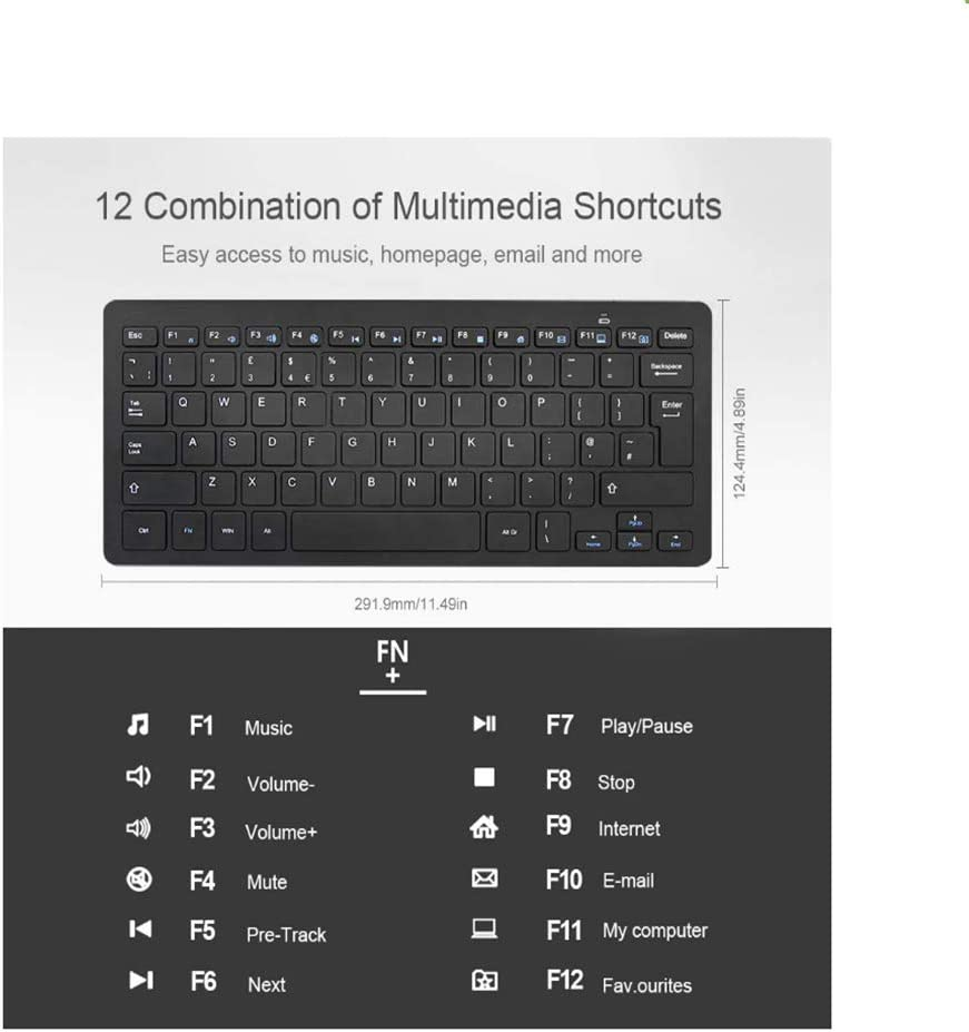 LAIZI 2.4G Wireless Keyboard for Windows 10//8//7 Vista//XP and Android Smart TV UK Keyboard Layout and Soft and Silent Keyboard Design Long Battery Life