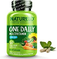 NATURELO One Daily Multivitamin for Men - with Vitamins & Minerals + Organic Whole Foods - Supplement to B
