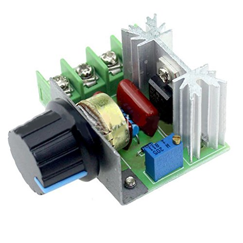 NEREIDS NET AC 50-220V 25A Motor Speed Control Controller Switch 2000W Adjustable Voltage Regula