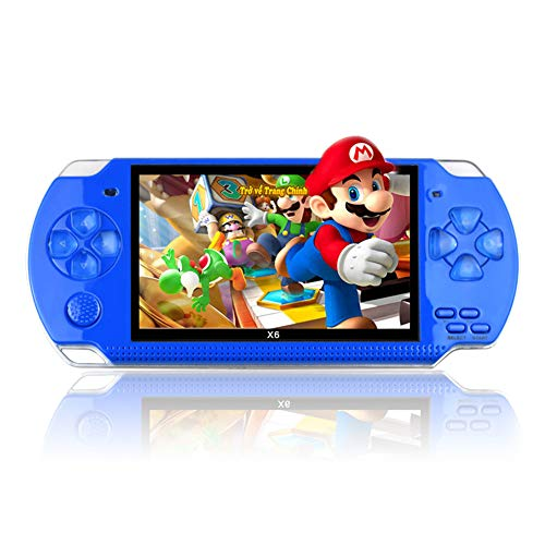 (twbbt 4.3 Inch 32 Bit Handheld Pocket Game Machine,Built-in 10000 Games 8GB Portable Console MP4)