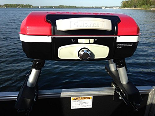 Cuisinart Grill Red Modified For Pontoon Boat With Arnall