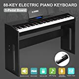 LAGRIMA 88 Key Music Electric Digital LCD Piano Keyboard W/Pedal Board (Black)