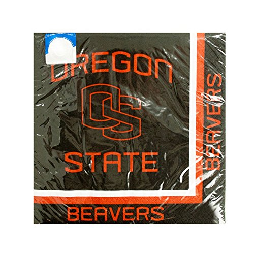 JT Party Supplies Napkins Oregon State Beavers Lunch Napkins-24 Pack