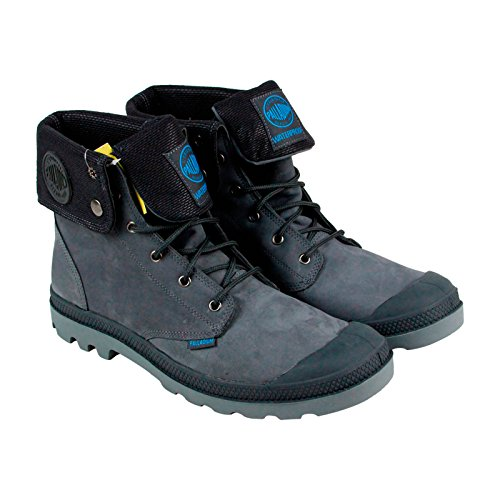 Palladium Men's Baggy Leather Gussett Rain Boot, Anthracite, 13 M US