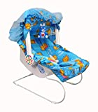 Ehomekart Kid's Blue Carry Cot cum Bouncer - 9 in 1 with Bottle Holder (Print May Vary) - FEEDING CHAIR, BABY CHAIR, ROCKER, BATH TUB, CARRYING, BOUNCER & BABY SWING