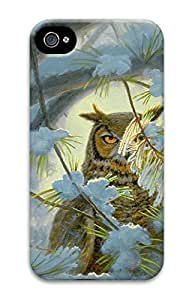 Cool Illustration Art Watchful Eye-owl 3D Printed Back Case Cover for iphone 6 plus 5.5/iPhone 6 plus 5.5 (526 art) _612030