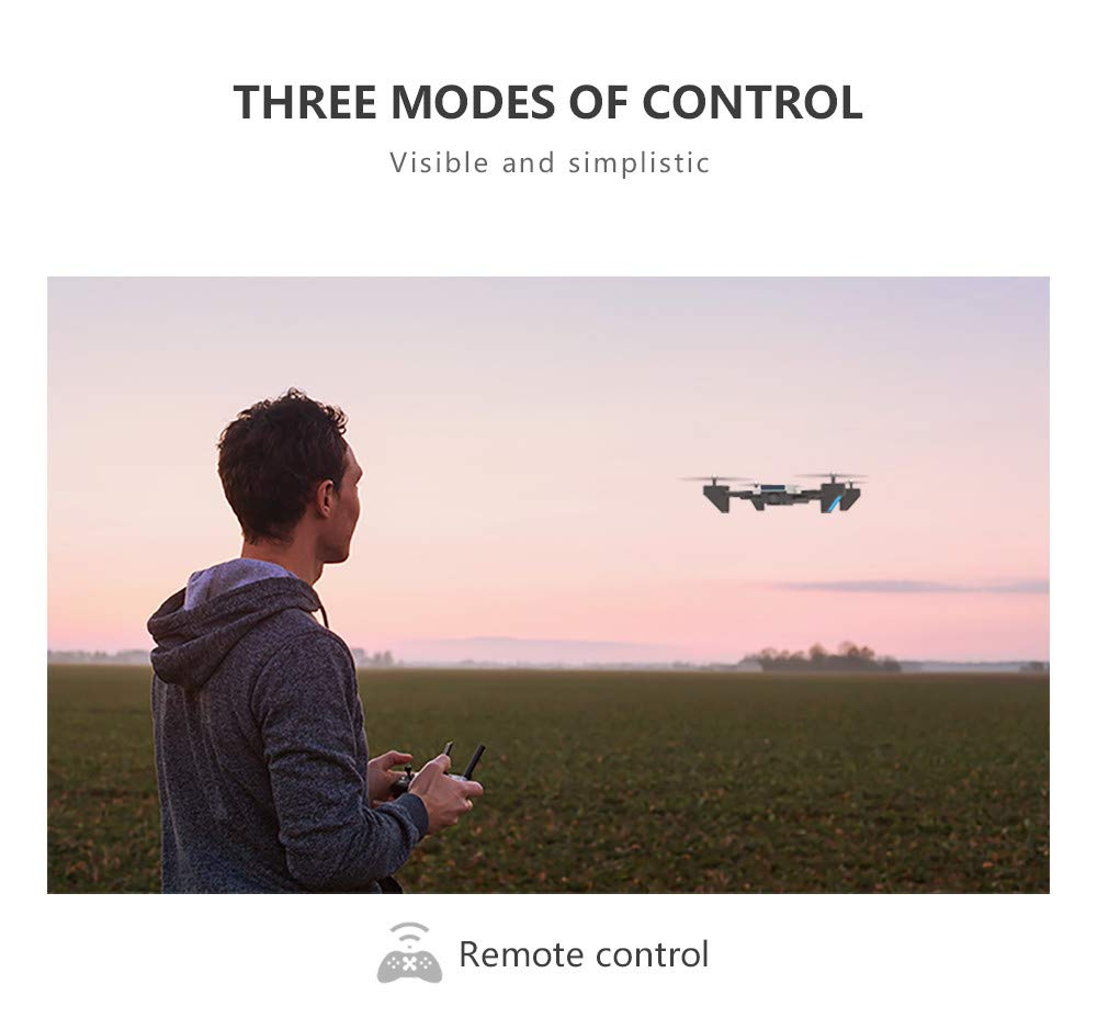 LikeroNew SG700-D 2.4Ghz 4CH Wide-Angle WiFi 4K HD Dual Camera Optical Flow RC Quadcopter Drone Hover,Beginners -Controlled Through The Mobile Phone App -One-Key Start&one-Key Landing (Black) by Likero (Image #8)