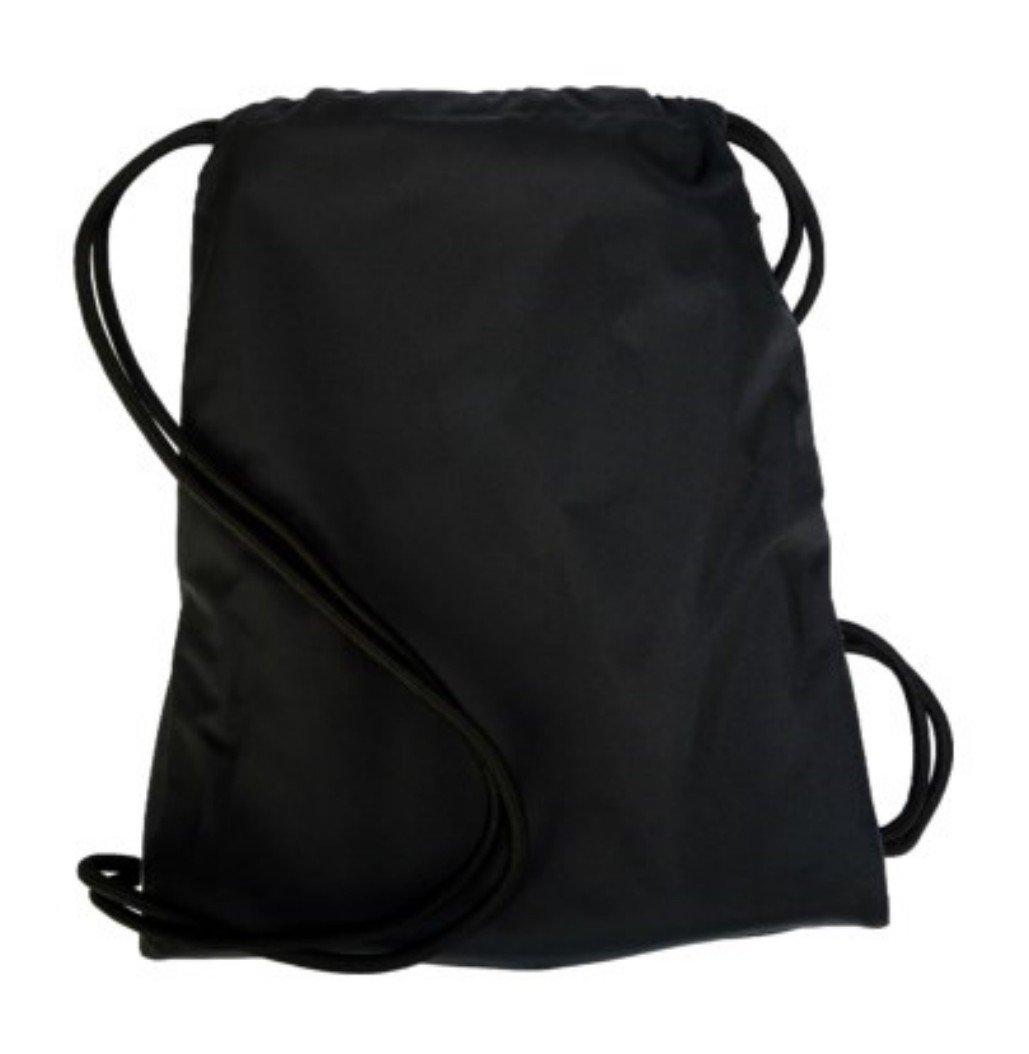NIKE Heritage Drawstring Gymsack Backpack 400 Denier Sport Bookbag Black With Large Reflective Silver Signature Logo by NIKE (Image #3)