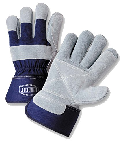 West Chester IRONCAT IC5DP Premium Split Cowhide Leather Work Gloves: Double Palm, X-Large, 12 - Gloves Double Palm Cowhide