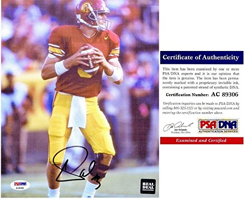 Carson Palmer Autographed Photograph - 8x10 inch 2002 Heisman Trophy Winner Certificate of Authenticity COA) - PSA/DNA (Carson Palmer Heisman Trophy)