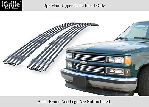 (APS Compatible with 94-99 C K Pickup Suburban Blazer Tahoe Stainless Steel Billet Grille C85011C)