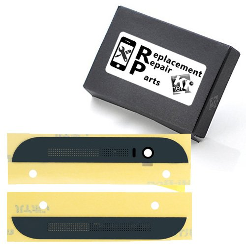 Kr-Net® Earpiece Speaker Mesh - Top & Bottom Front Cover Bezel Housing For HTC One M8 Grey ()