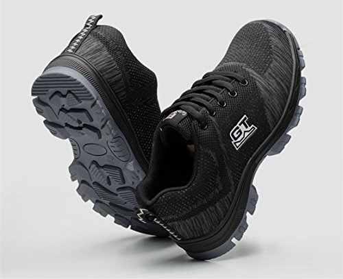 LIDUN Unisex Breathable Steel Toe Shoes Men Steel Toe Boots Womem Steel Toe Sneakers (US Men 9, LD01) by LIDUN (Image #2)