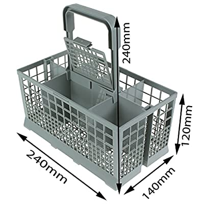 First4Spares Universal Dishwasher Cutlery Silverware Basket Holder Grey