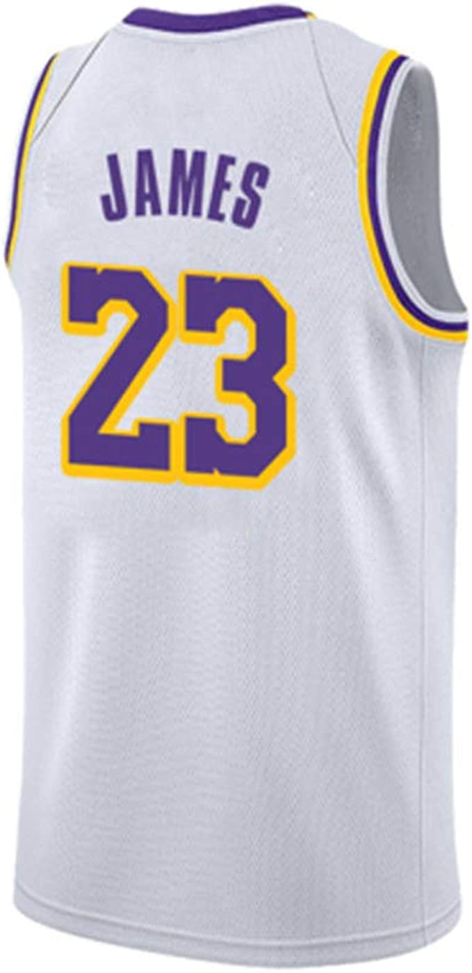 YGZZ NBA Lakers Retro White Lebron James, Kobe Bryant, Hot ...