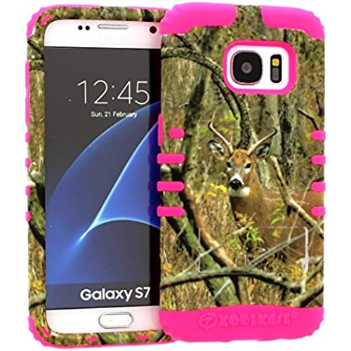 Galaxy S7 Case, Hybrid Heavy Duty Rugged Armor Kickstand Shock Proof Impact Resistant Grip Cover for Samsung Galaxy S7 (Real Deer / Pink) Sales