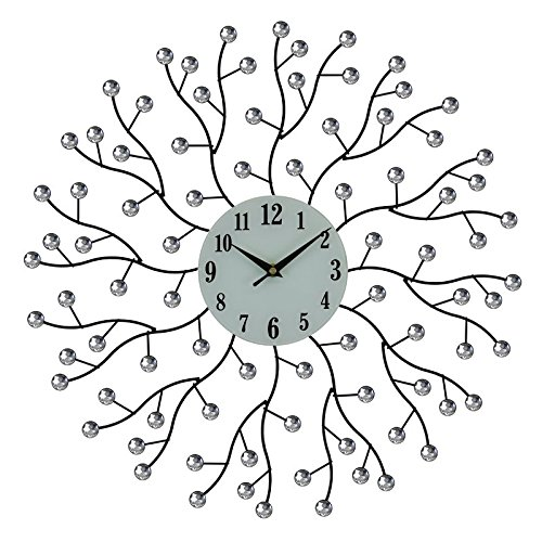 Elegant Bejeweled Abstract Branches Round 20'' Wall Clock by Clock