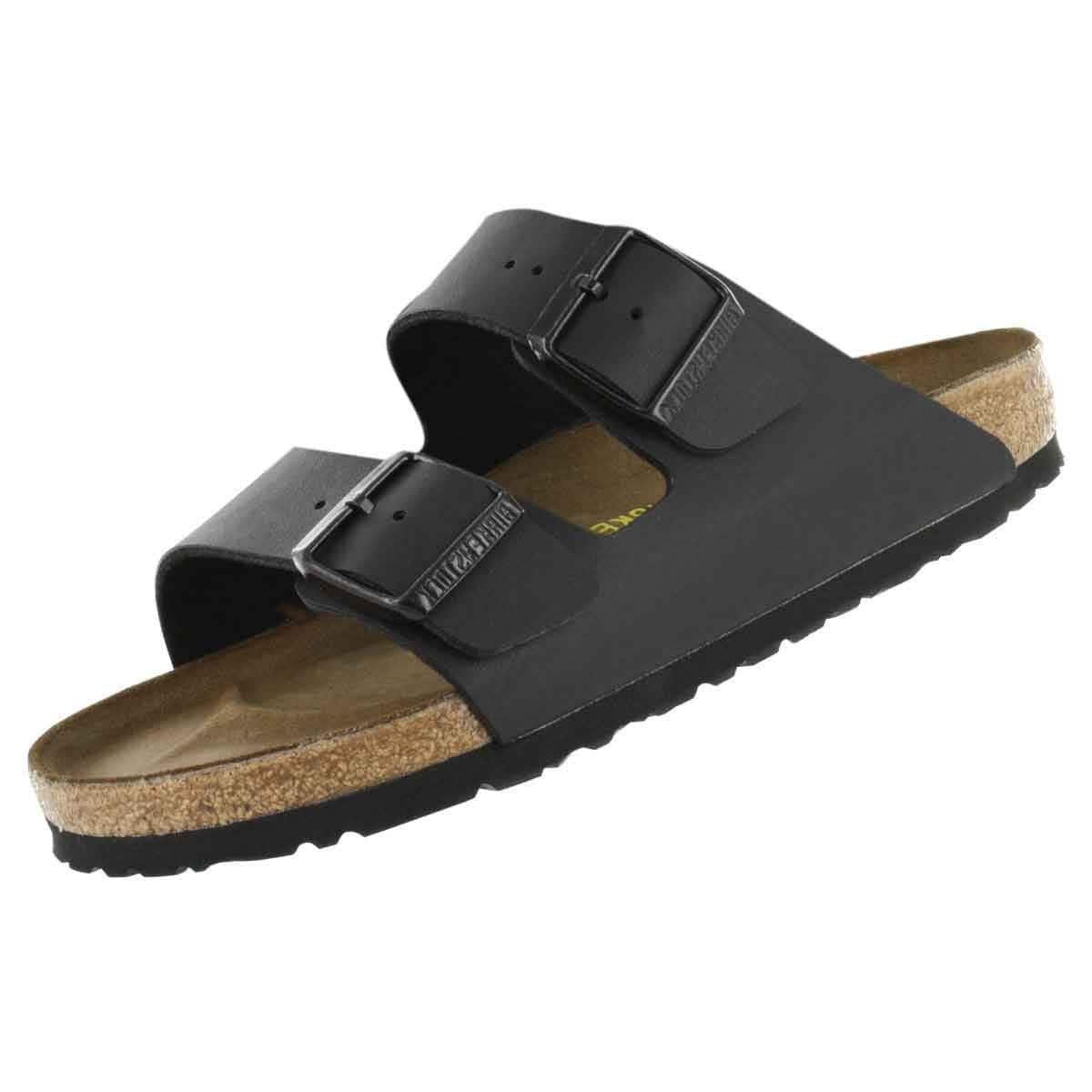 Birkenstock Men's Arizona 2-Strap Cork Footbed Sandal Black 41 M EU