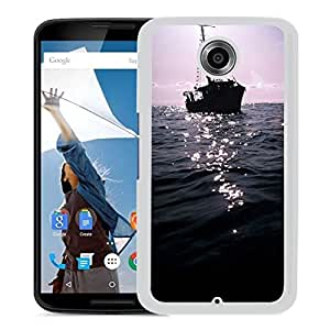 New Beautiful Custom Designed Cover Case For Google Nexus 6 With The Dark Boat On Sea (2) Phone Case