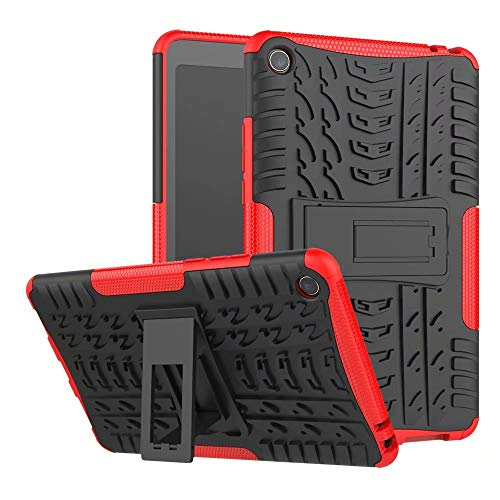 Zhusha Cases & Cover, Xiaomi Mipad 4 case,Hyun Pattern Dual Layer Hybrid Armor Kickstand 2 in 1 Shockproof Tablet Case Cover for Xiaomi Mi Pad 4 / Mipad 4 (8.0 inch) (Color : Red)