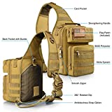 CVLIFE Tactical Sling Bag Pack Military Rover