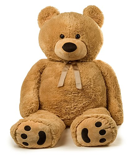 (Jumbo Teddy Bear 5 Feet Tall - Tan)