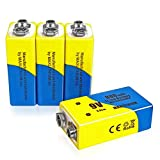 9v Batteries Rechargeable Li-ion 800mAh 4 Packs