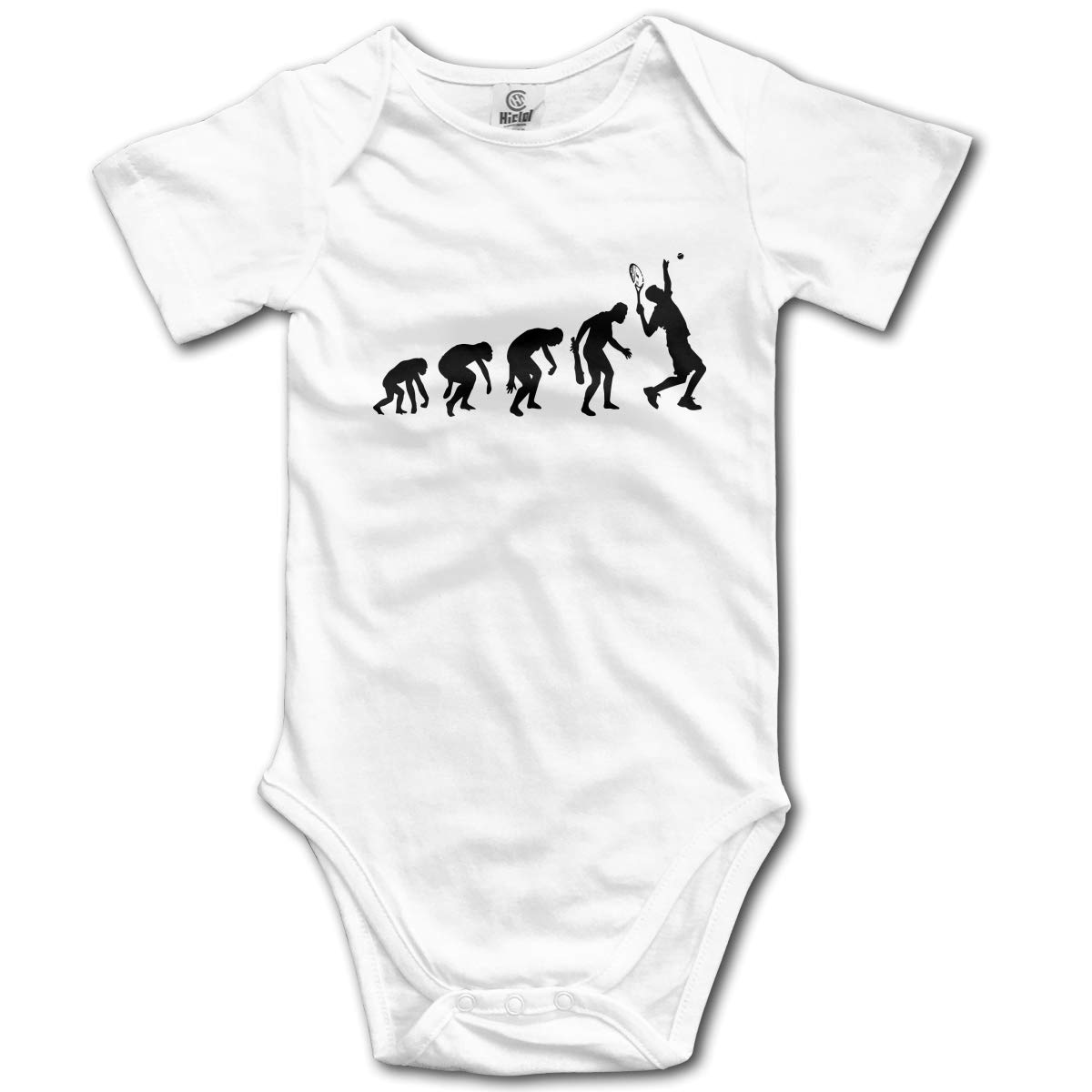 CDHL99 Evolution of A Tennis Player Baby Boys Or Girls Short Sleeve One-Piece Coverall 0-2T