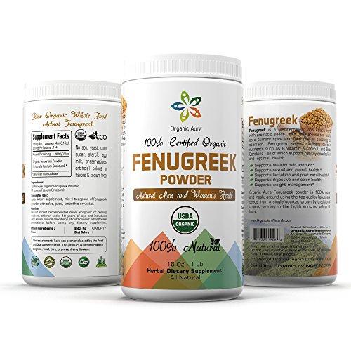 Certified Organic Fenugreek Powder 16Oz product image