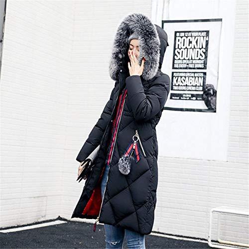 Casuali Addensare Donna Parka Piumini Pelliccia Grazioso Lunga Fashion Schwarz Outdoor In Di Cappuccio Invernale Alta Invernali Calda Piumino Con Qualità Manica Giaccone qvwwgCIx5