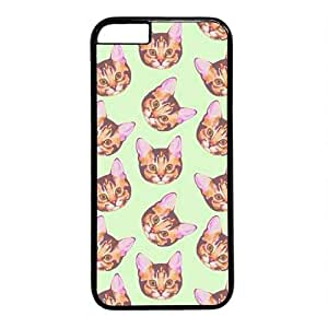 "Cat's Head Pattern Theme Case for iPhone 6(4.7"") PC Material Black by Maris's Diary"