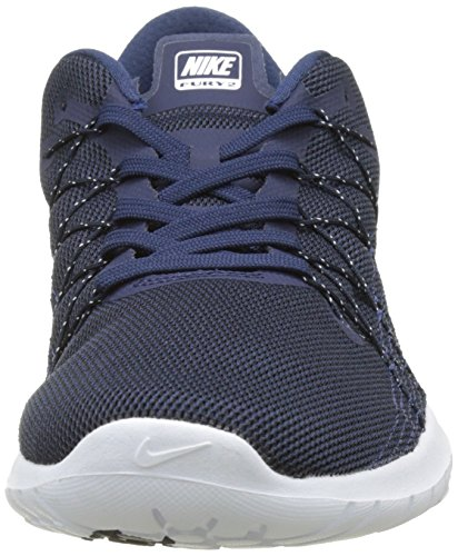 Nike Nike Flex Fury 2 - Bleu Nuit / Blanc-dk Obsdn, Multicolore, 11.5