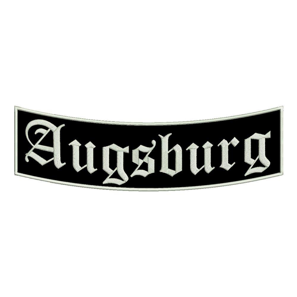 35x11cm St/ädtepatch Stadtname Ein unterer Bogen B1 mit ca Aufn/äher Augsburg