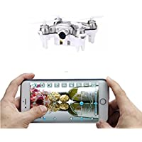 ZV RC Mini Drone With Camera Super Nano Quadcopter with Camera Control by iPhone And Android SmartPhone(Grey)