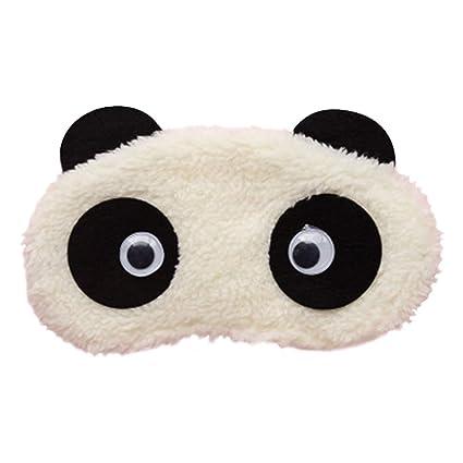 Haodou Máscara de ojo Lindo Portátil Soft Cartoon Panda Eyeshade Sueño Protección Rest Accesorios Sueño Spa