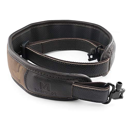 Marmot 2 Point Rifle Sling - Adjustable Gun Sling 1 Inch Metal Hook Clip Leather - Nylon Sling for Gun Rifle Sniper