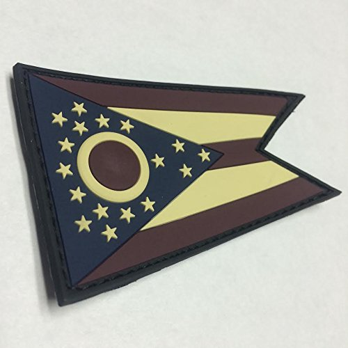 OHIO STATE FLAG PVC PATCH - FULL COLOR EDITION