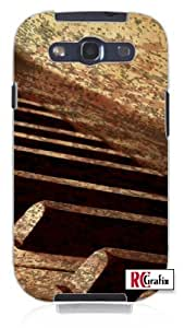 Rustic Piano Keys Musical for Musician Unique Quality Soft Rubber TPU Case for Samsung Galaxy S4 I9500 - White Case