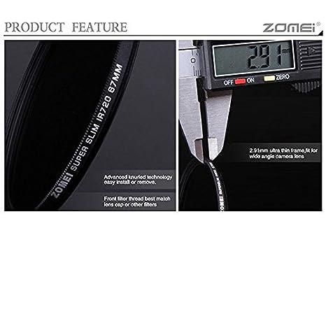 105 mm Flycoo ZOMEI Infrared IR 720 nm Glass Optical Filter for Canon Nikon Sony Panasonic Fujifilm Kodak DSLR Camera 25 mm