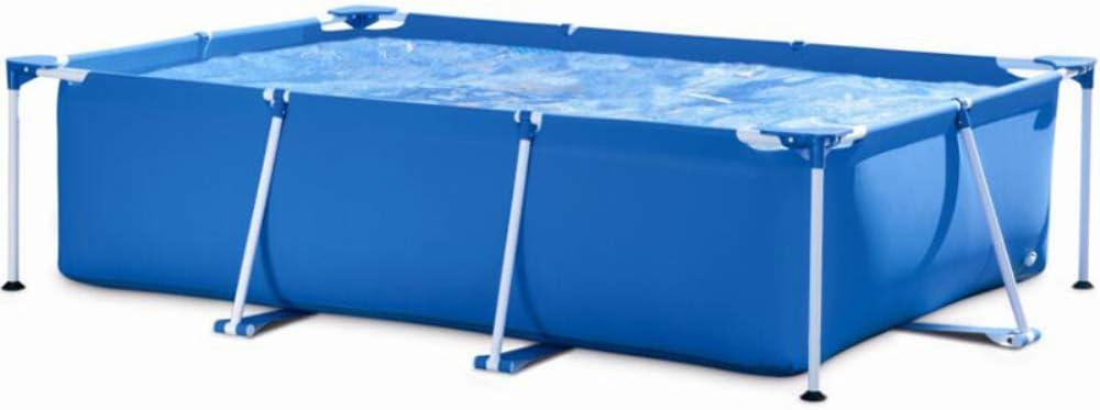 MXX Piscina sobre el Suelo; Fuerte Soporte de tubería de Acero galvanizado, la Tela de la Piscina está Hecha de PVC no tóxico, fácil instalación, 118x79x30 Pulgadas