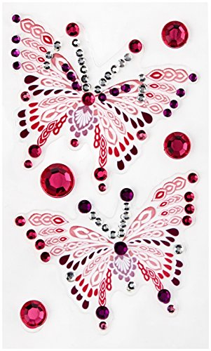 me & my BIG ideas Phone Bling Removable Cell Phone Embellishment, Bliss, Pink Butterflies