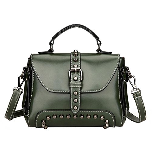 Clearance Sales Fashion Rivets Top Handle Handbag Tote Bag Afterso Messenger Bags Casual Phone Bag Wallet Crossbody Bags Womens Girls Gift (20cm(L)10cm(W)15cm(H)/7.87(L)3.93(W)5.90(H)