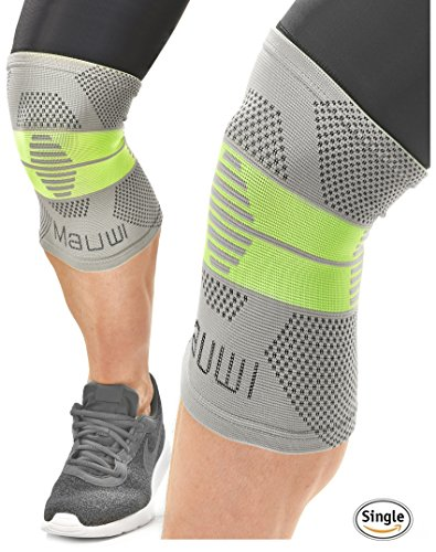 Knee Brace Support Compression Sleeve for Running – Sports – Crossfit – Volleyball – Arthritis – Meniscus Tear – Joint Pain Relief – Fitness – Best for Men – Women – Boys – Girls – Patella Stabilizer – DiZiSports Store